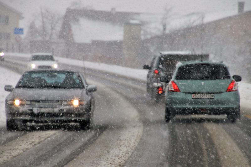 Driving safely on slick road conditions